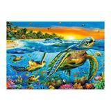 Puzzle Castorland - 1000 de piese - Underwater Turtles