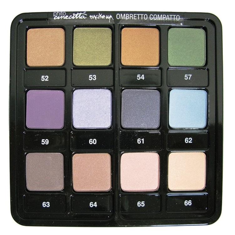 Paleta Profesionala 12 Culori Fard de Pleoape Compact - Cinecitta PhitoMake-up Professional Tavolozza Professionale 12 Colori Ombretto Compatto nr 3 imagine produs