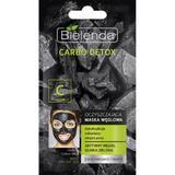 Masca de fata cu Carbune Activ si Argila Verde pentru ten mixt Bielenda Carbo Detox 8g