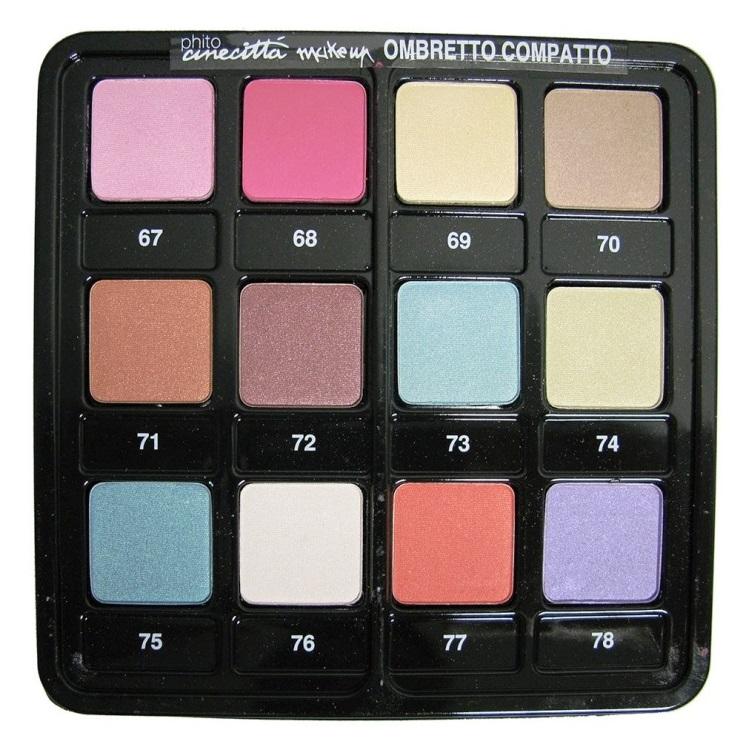 Paleta Profesionala 12 Culori Fard de Pleoape Compact - Cinecitta PhitoMake-up Professional Tavolozza Professionale 12 Colori Ombretto Compatto nr 4