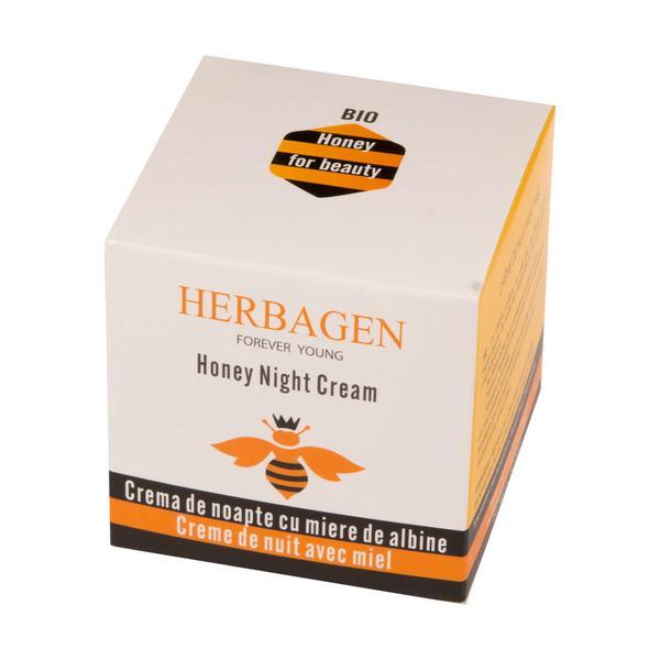 Crema de Noapte cu Miere de Albine Bio Herbagen, 50 g imagine produs
