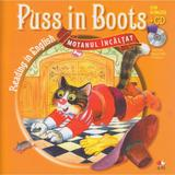 Motanul incaltat. Puss in boots. Reading in english + cd. lectura: Margareta Paslaru, editura Litera