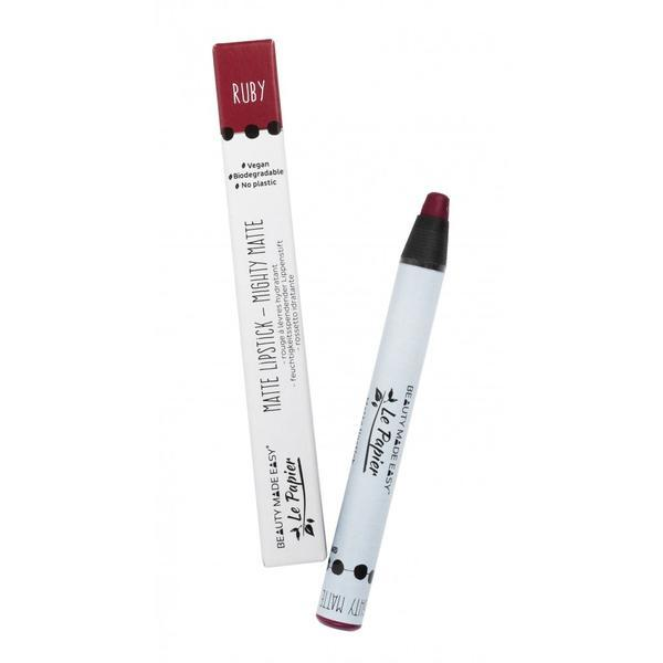 Ruj hidratant mat Beauty Made Easy Le Papier Creion - RUBY 6g imagine produs