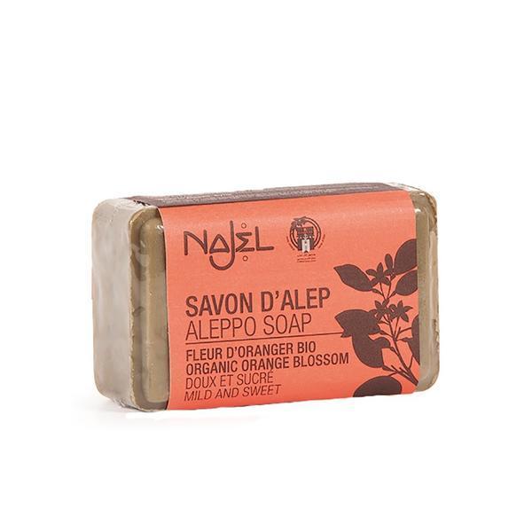 Sapun de Alep cu flori de portocal bio Najel 100g imagine produs