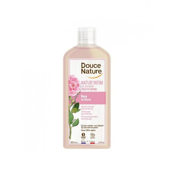 Gel intim calmant cu apa de trandafiri Douce Nature 500ml imagine produs