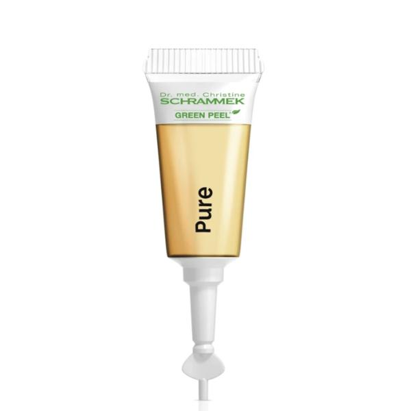 Fiole pentru Ten cu Impuritati - Dr. Christine Schrammek Green Peel Herbal Active Pure Ampoules 21 x 2 ml imagine produs