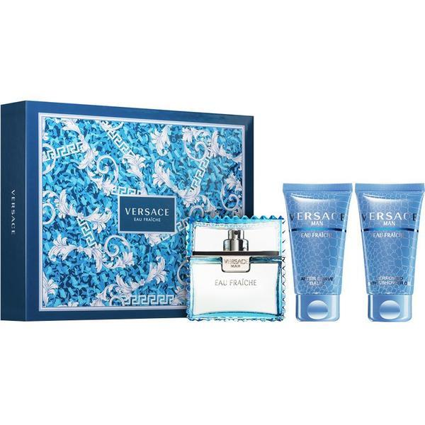 Set Versace, Man Eau Fraiche, Barbati: Apa de Toaleta, 50 ml + Gel de dus, 50 ml + After shave, 50 ml poza