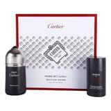Set Cartier Pasha Edition Noire, Barbati, 100 ml Apa de Toaleta 75 ml + Deo Stick 100 ml