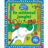 Coloreaza dupa numere. In adancul junglei, editura Kreativ