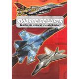 Avioane de lupta. Carte de colorat cu abtibilduri, editura Kreativ