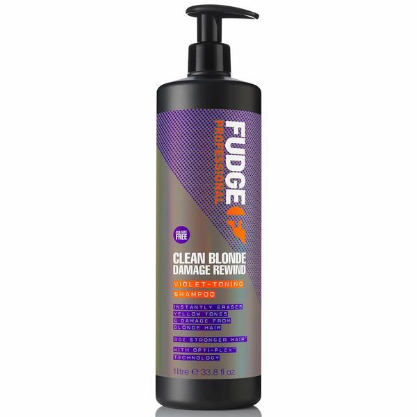 Sampon Reparator pentru Par Blond - Fudge Clean Blonde Damaged Rewind Shampoo, 1000 ml