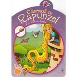 Coloreaza cu Rapunzel (cu autocolante), editura Arc