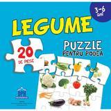 Legume. Puzzle pentru podea 3-6 ani, editura Didactica Publishing House