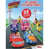 Pe locuri! Fiti gata! Start! 32 de planse de colorat - Mickey si pilotii de curse, editura Litera