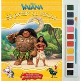 Sa pictam cu Vaiana - Carte de colorat cu pensula si acuarele, editura Litera