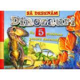 Sa desenam dinozauri cu 5 sabloane pentru desenat!, editura Girasol