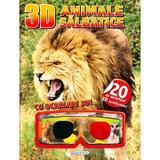 3D Animale salbatice. Cu ochelari 3D, editura Girasol