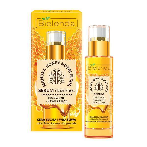 Ser nutritiv si hidratant pentru Ten Uscat si Sensibil Bielenda Manuka honey nutri elixir 30 g