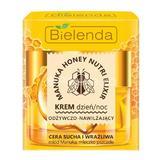 Crema nutritiva si hidratanta pentru Ten Uscat si Sensibil zi/noapte Bielenda Manuka honey nutri elixir 50ml