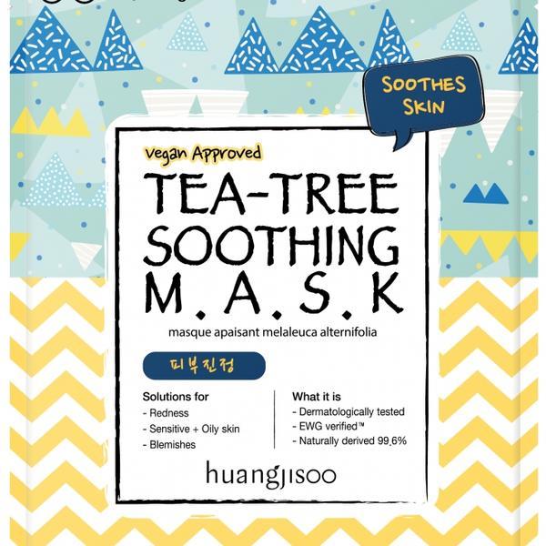 Masca Calmanta pentru Ten Sensibil cu Probleme cu Tea Tree Tip Servetel Huangjisoo, 1 buc imagine produs