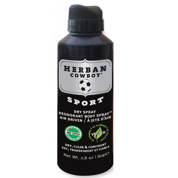 Deodorant Spray pentru Barbati - Sport - Herban Cowboy, 80 g poza