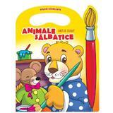 Animale salbatice - Carte de colorat (culori fermecate), editura Prut