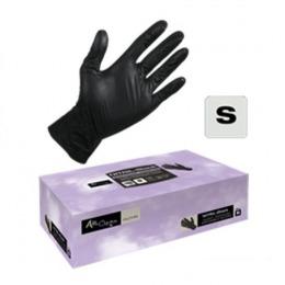 Manusi Unica Folosinta Nitril Coafor Marimea S - Airclean Black Gloves Nitril Powder Free S