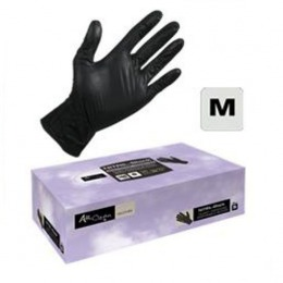 Manusi Unica Folosinta Nitril Coafor Marimea M - Airclean Black Gloves Nitril Powder Free M