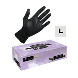 Manusi Unica Folosinta Nitril Coafor Marimea L - Airclean Black Gloves Nitril Powder Free L