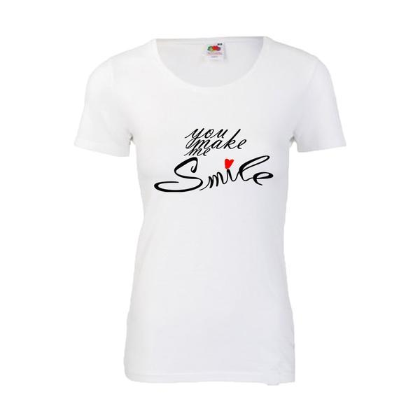 Tricou dama personalizat Fruit of the loom, alb, Face of angel S