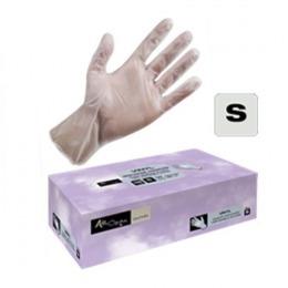 Manusi Unica Folosinta Vinil Cosmetica Marimea S - Airclean White Gloves Vinyl Powder Free S