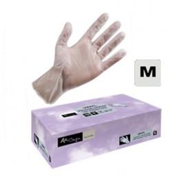 Manusi Unica Folosinta Vinil Cosmetica Marimea M - Airclean White Gloves Vinyl Powder Free M