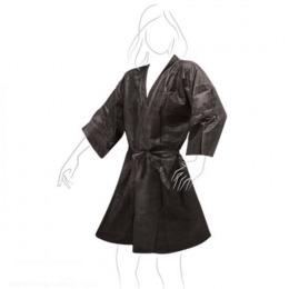 Halat Unica Folosinta Negru Airclean Tnt Kimono Black 135 X 100 Cm