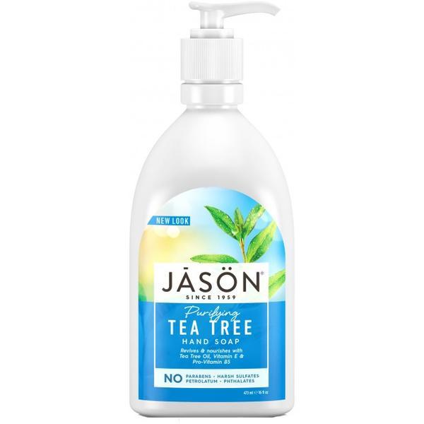 Sapun Lichid pentru Fata si Maini cu Tea Tree Jason, 473ml imagine produs
