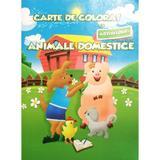 Carte de colorat cu abtibilduri - Animale domestice