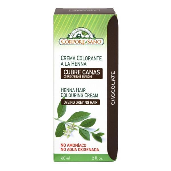 Vopsea Crema Henna Semipermanenta Ciocolatiu Corpore Sano, 60ml imagine produs