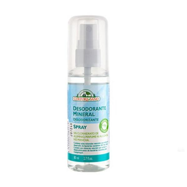 Deodorant Mineral Spray cu Alaun Corpore Sano, 80ml poza