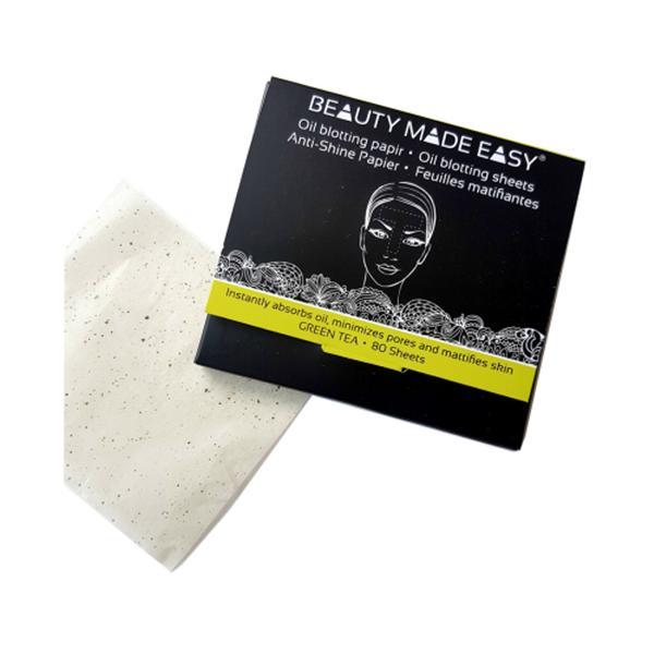 Foite Matifiante pentru Ten cu Ceai Verde Beauty Made Easy, 80 buc imagine produs