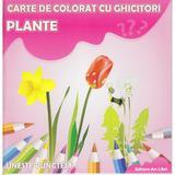 Plante - Carte de colorat cu ghicitori, editura Ars Libri