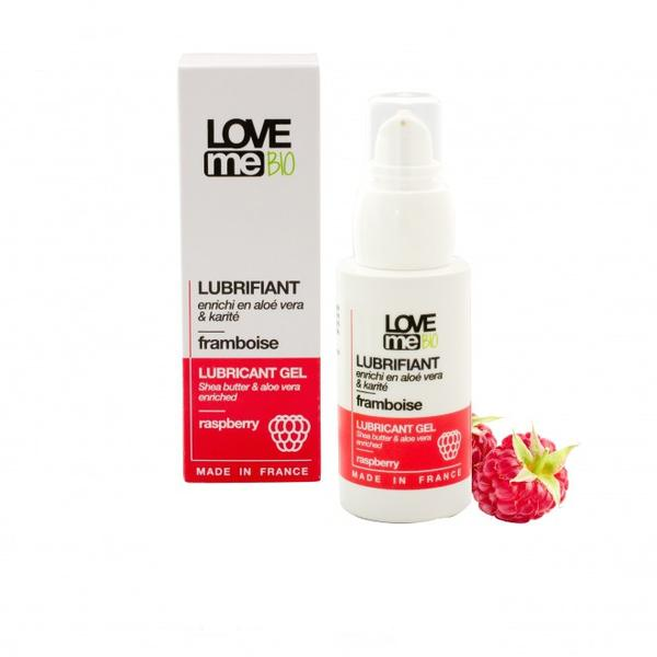 Gel Lubrifiant Intim cu Aroma de Zmeura Love Me Bio, 50ml imagine produs