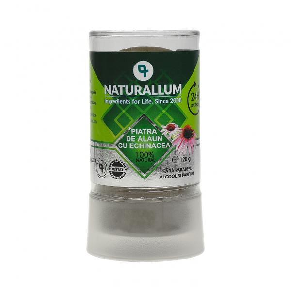 Deodorant Piatra de Alaun cu Echinaceea Naturallum, 120 g imagine produs