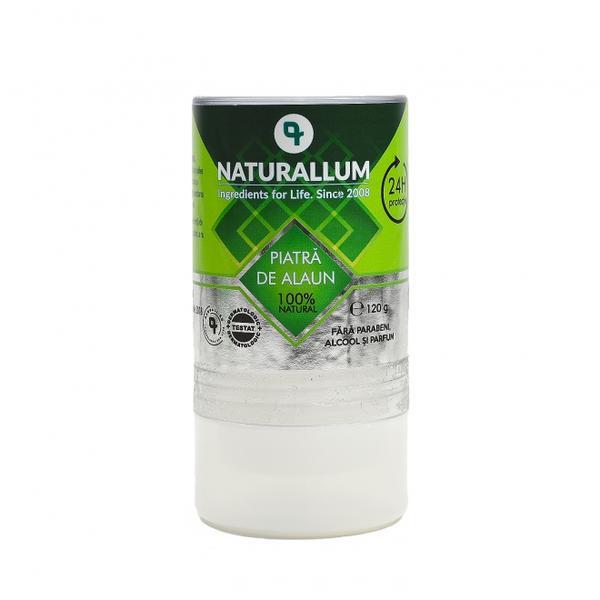 Deodorant Piatra de Alaun 100% Naturala Naturallum, 120 g imagine produs