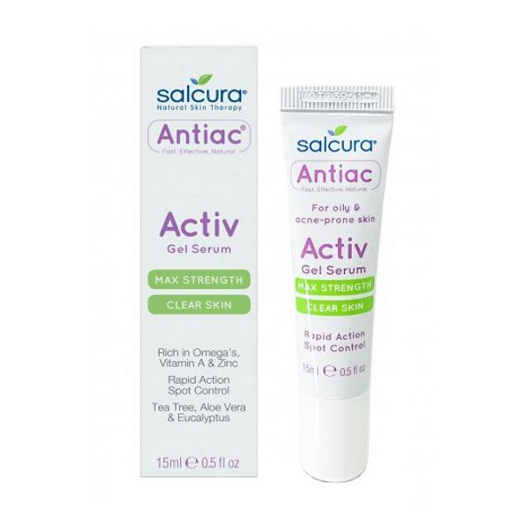 Gel Tratament pentru Acnee si Pete Pigmentate pentru Fata si Corp Antiac Activ Salcura, 15ml esteto.ro