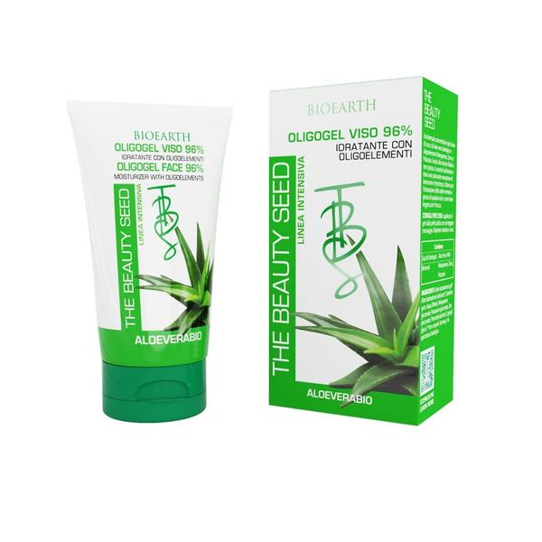 Tratament Hidratant Intensiv pentru Ten Oligogel cu Aloe Vera 96% Bioearth, 50 ml imagine