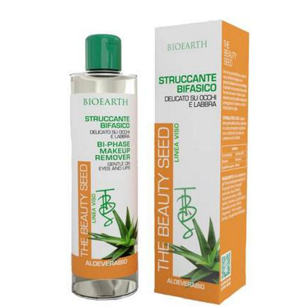 Demachiant Bifazic cu Aloe Vera Bioearth, 150 ml imagine