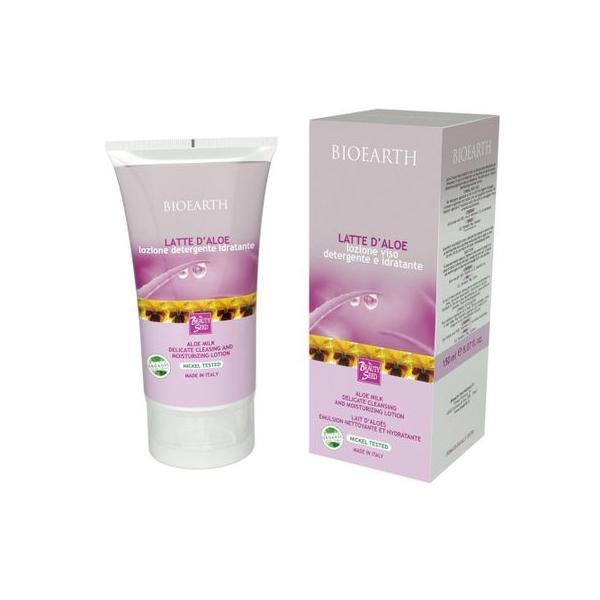 Aloe Milk - Lapte Demachiant si Hidratant Bioearth, 150 ml poza