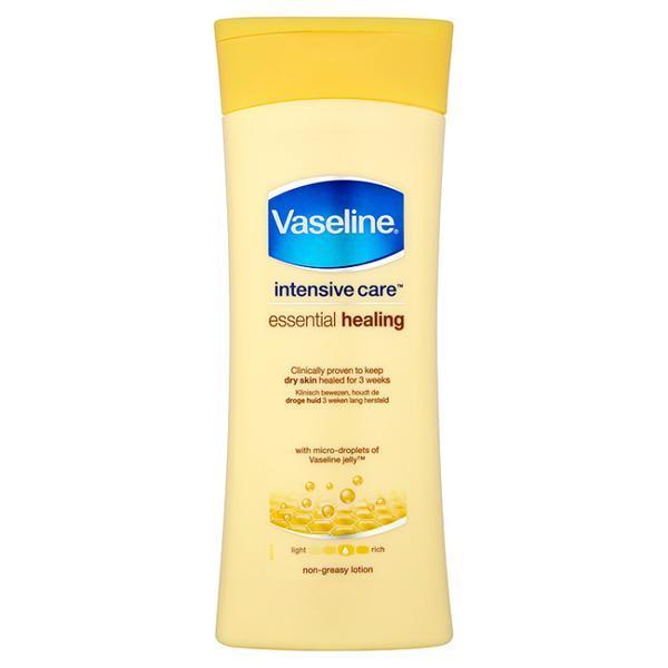 Lotiune de corp pentru piele uscata, sensibila Vaseline Intensive Care Essential Healing, 400ml image0