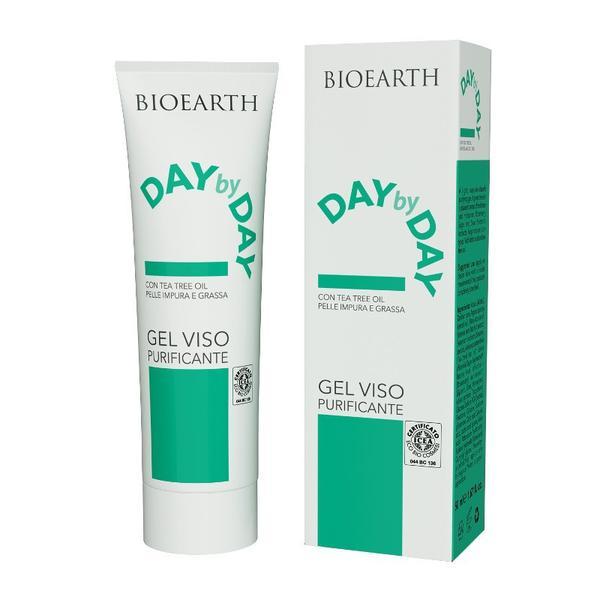 Gel de Curatare pentru Ten Gras si Impur Day by Day Bioearth, 50 ml