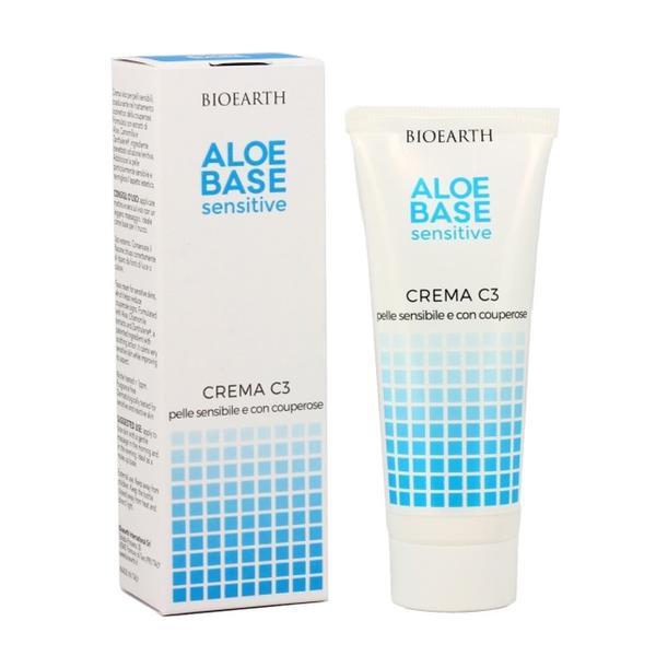 Crema C3 Aloebase pentru Ten Cuperozic si Sensibil Bioearth, 50 ml