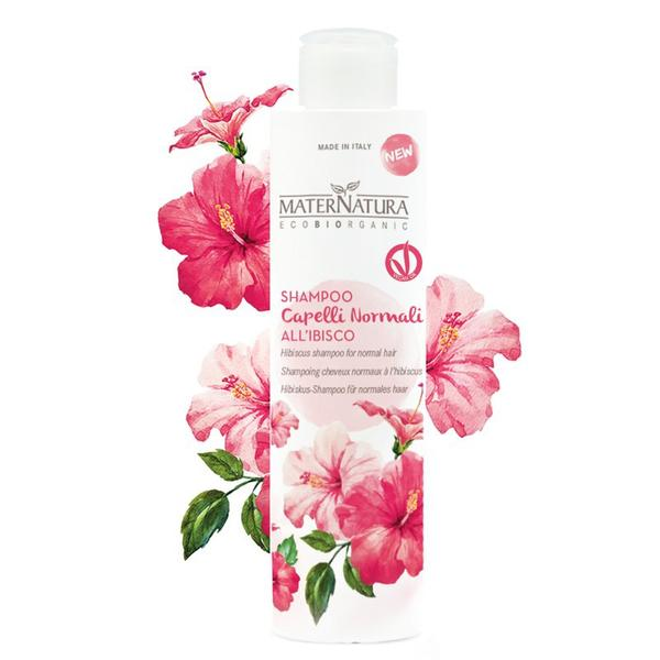 Sampon pentru Par Normal cu Hibiscus MaterNatura, 250ml imagine